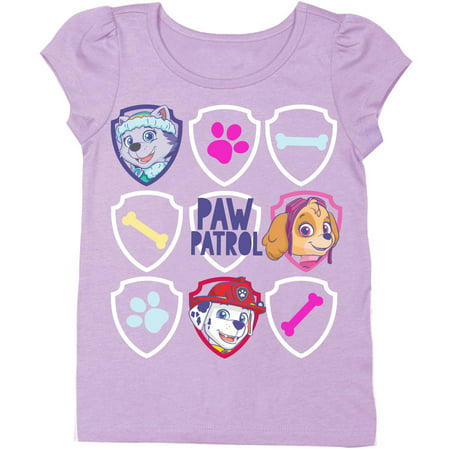 Toddler Girls' Character Heads Badge Logos Group Shot Short Puff Sleeve Graphic - Character Day Ideas For Girls