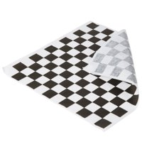 A1BakerySupplies 1000 Pack  Sandwich Wrap 12 In x 12 In Food Basket Liner BBQ Basket Liner Wax Coated Deli Wrap  (Black and White Checkered)