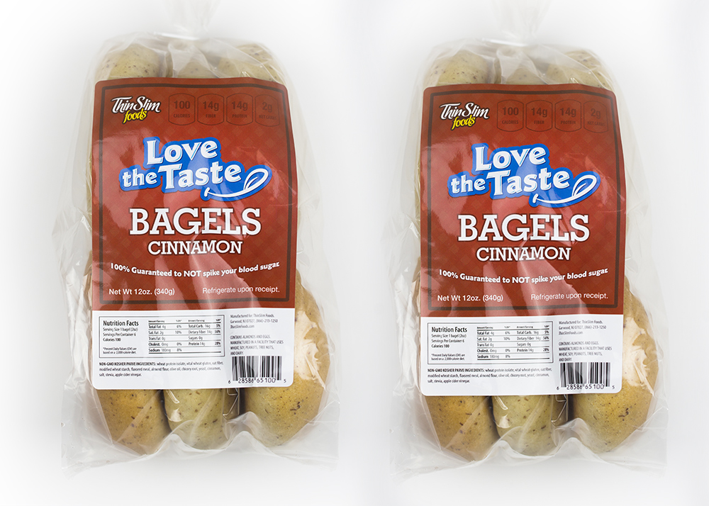 ThinSlim Foods Love-the-Taste Low Carb Bagels Cinnamon, 2pack by ThinSlim Foods
