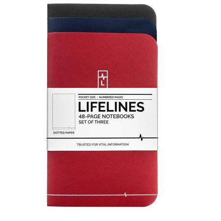 - Lifelines Small Pocket Dotted Notebook | Mini Bullet Journal for To-Do Lists, Memos, Sketches, Notes | Numbered Dot Grid Pages 3.5 x 5.5 inches (Pack of 3)