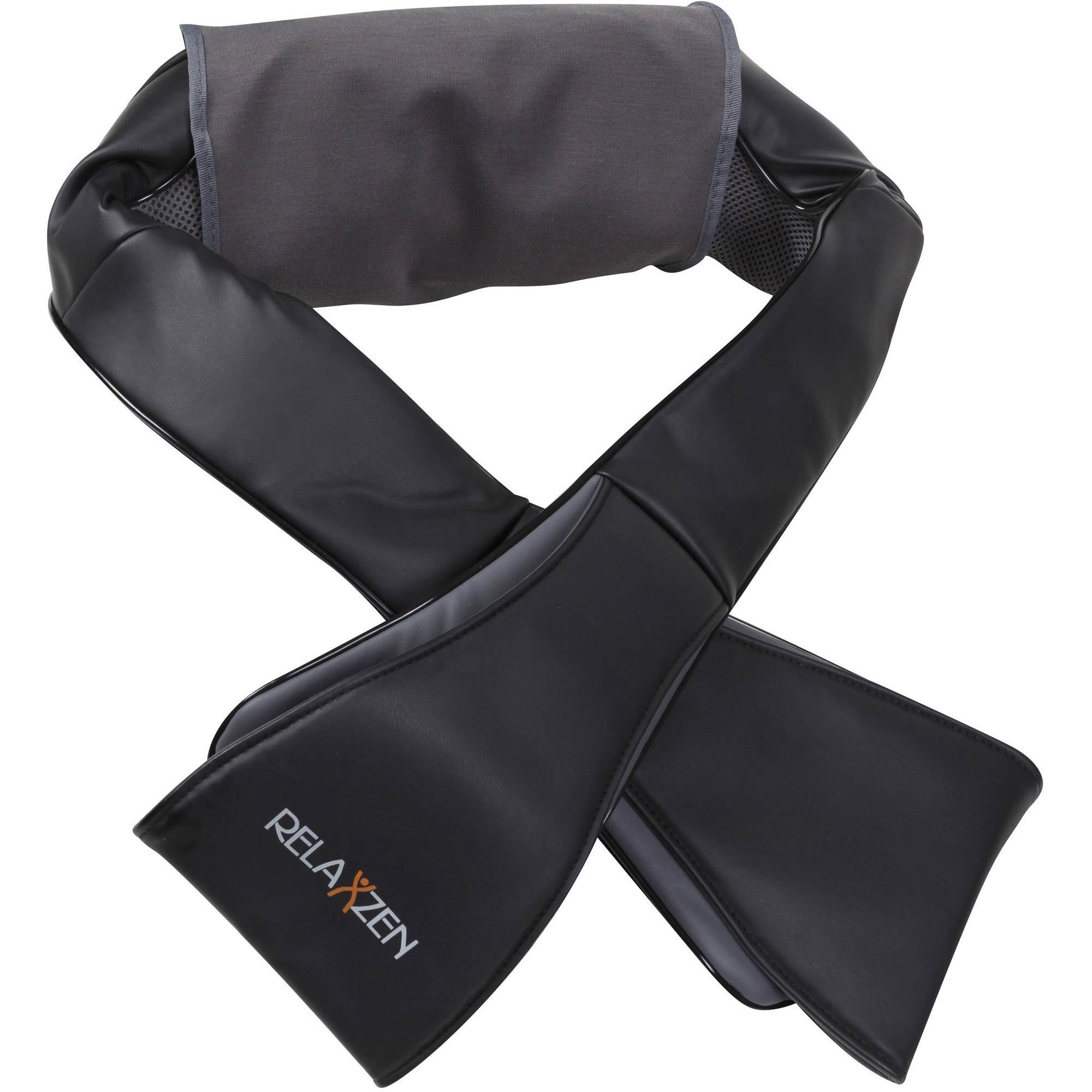 Relaxzen 60-2995 Shiatsu Neck and Shoulder Massager, Black and Gray