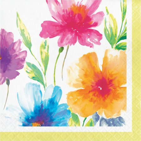 Floral Party Napkins (Creative Converting Watercolor Floral Napkins, 16)