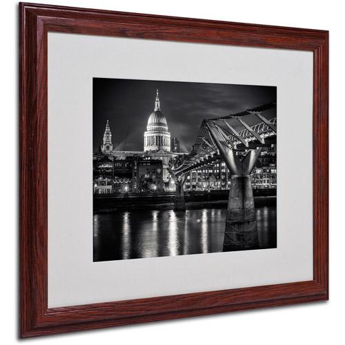 "Trademark Fine Art ""Letters From London"" by Giuseppe Torre, Wood Frame"