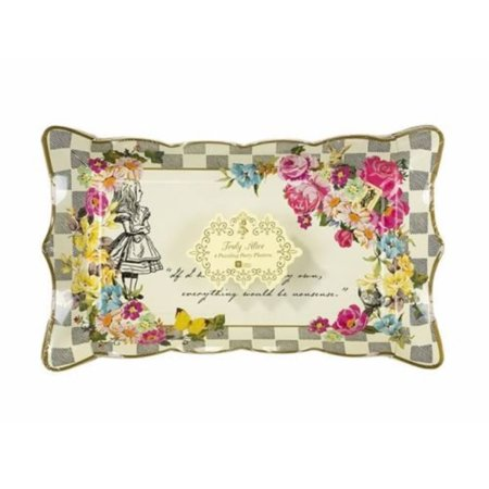 Talking Tables Alice In Wonderland Party Supplies | Paper Serving Platter | Great For Mad Hatter Tea Party, Birthday Party And B - Tea Party Table Setting
