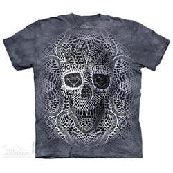 Mountain 8039525 Lace Skull Mens T-Shirt, 3XL