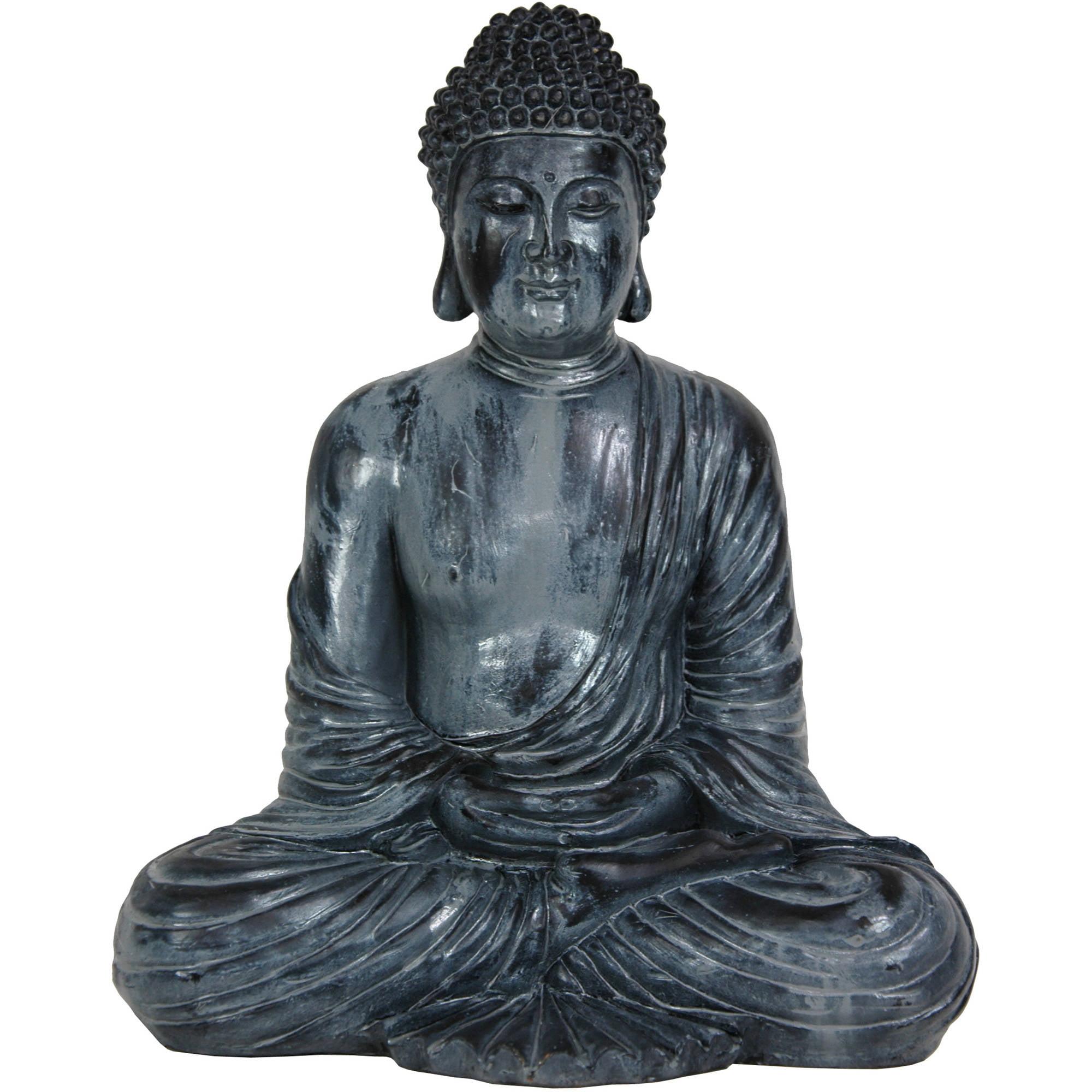 "12"" Japanese Sitting Buddha Statue by Oriental Furniture"