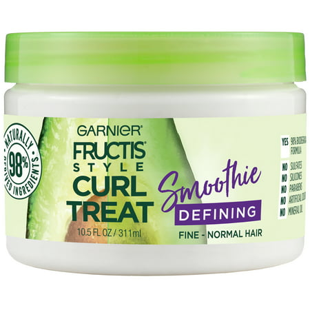 - Garnier Fructis Style Curl Treat Smoothie Defining Leave-in Styler for Soft Curls, 10.5 fl. oz.