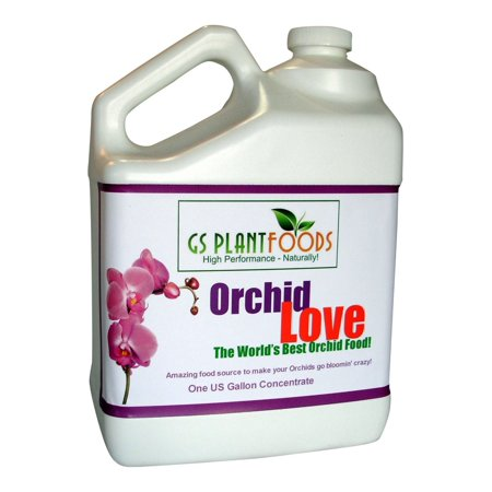 Orchid Love - World's Greatest Orchids Food, Best Organic Natural Orchid Flower Bloom Booster Fertilizer / Fertiliser 1 Gallon of Liquid