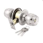 uxcell® Household Bedroom Metal Push-Button Keyed Door Knobs Lock Lockset