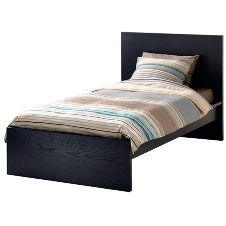 Ikea Twin size Bed frame, high, black-brown 6210.142914.2014 (Twin Ideas)