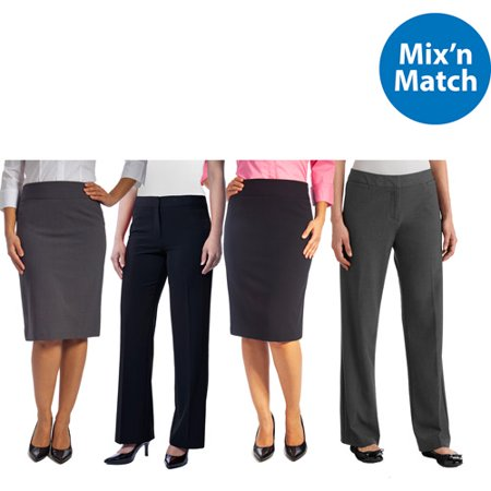 George Womens Classic Career Suiting Pencil Skirt and Pant 2 Pack Value Bundle
