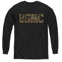 Us Marine Corps - Usmc Camo Fill - Youth Long Sleeve Shirt - Large