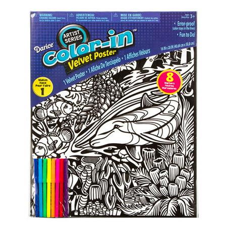 Velvet Poster Aquatic 16X20 - Velvet Art Posters To Color