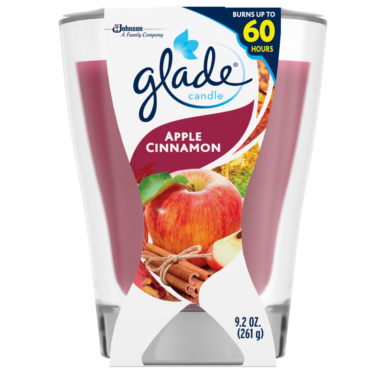 Glade Candle, Apple Cinnamon, 9.2 oz.