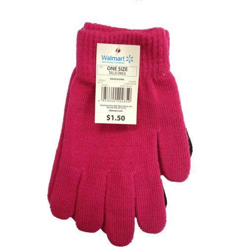 Fucshia Solid Gloves