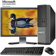 "[REFURBISHED] Dell SFF PC 22"" Inch LCD Quad Core I5 4570 4GB 512GB SSD WiFi Windows 10 Pro Optiplex 3020 Desktop Computer (Refurbished)"