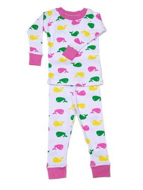 New Jammies Unisex Baby Pink Printed Cotton 2 Pc Sleepwear Set 12-24M