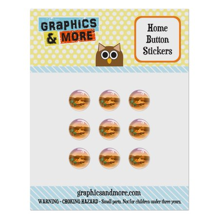 Pyramids Giza Desert Egypt Camel Home Button Stickers Set Fit Apple iPhone iPad iPod Touch