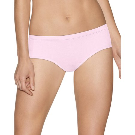 Hanes Ultimate Cotton Stretch Hipster - Size - 5 - Color - Pink/White/Taupe ()