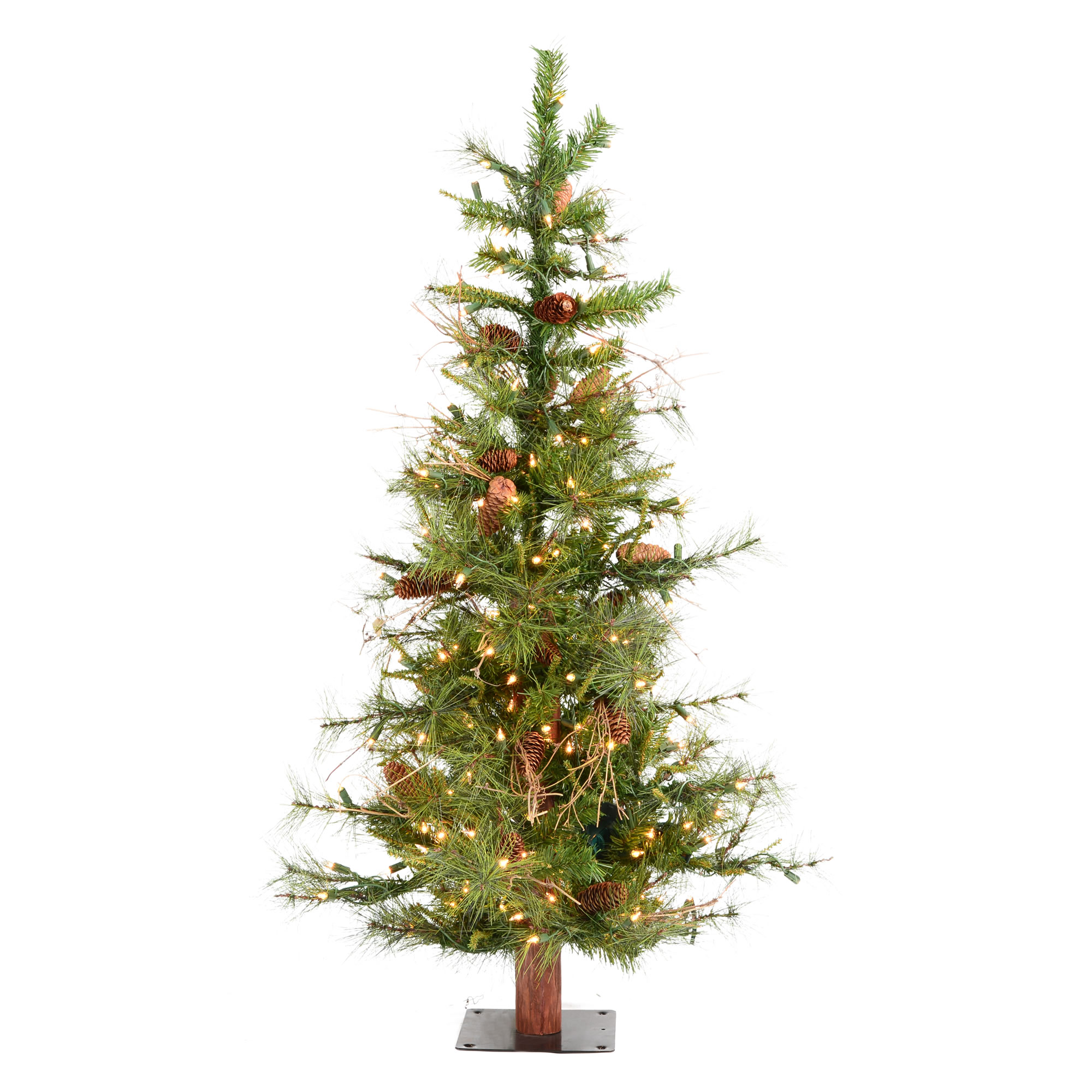 "Vickerman Artificial Christmas Tree 5' x 35"" Ashland Dura-Lit 300 Clear Lights 516 Tips"
