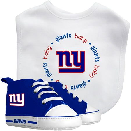 Baby Fanatic Nfl Velcro Closure Bib And High Top Pre Walker Set  New York Giants