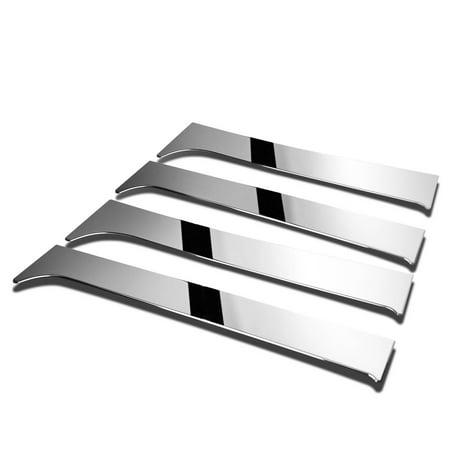For 07 14 Chevy Silverado Gmc Sierra Extended Cab 4Pcs Exterior Door Pillar Post Trim Cover  Chrome  08 09 10 11 12 13