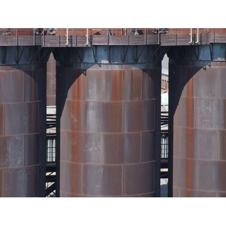 Laminated Poster Industry Silos Stainless Metal Blast Furnace Iron Poster Print 11 x 17