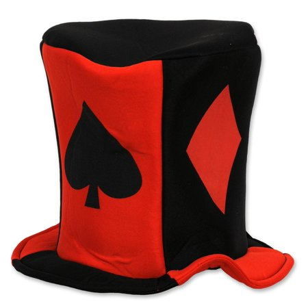 Club Pack of 12 Red and Black Casino Night Card
