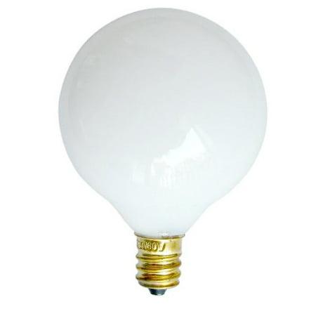 SUNLITE 60W 120V Globe G16.5 E12 White Incandescent Light Bulb