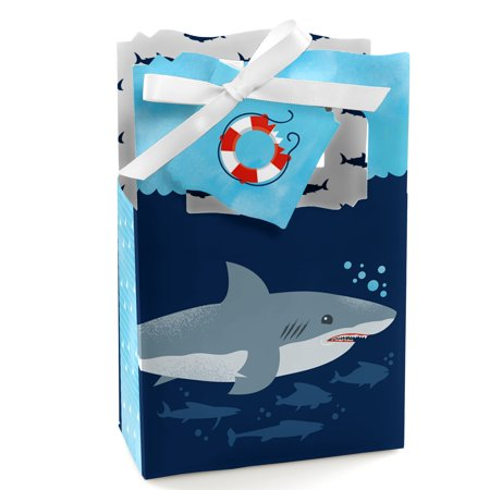 Shark Zone - Shark Week Party - Jawsome Shark Party or Birthday Party Favor Boxes - Set of 12