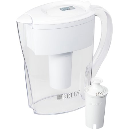 Brita, CLO35566, 6-Cup Space Saver BPA-Free Water Pitcher with 1 Filter, 1 Each, White