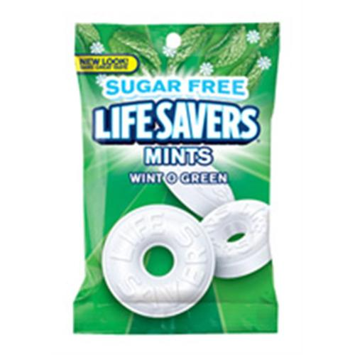 Lifesavers Sugar Free Wintergreen 12 packs (2.75 oz per pack) (Pack of 3)
