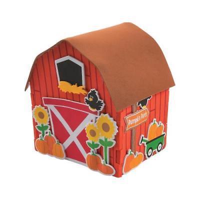 IN-13747351 3D Pumpkin Patch Barn Craft Kit (Pumpkin Craft)