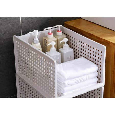 "1PC Foldable Stackable Drawer Type Storage Basket for Bedroom Wardrobe Closet Organize Size:15.3""x11.7""x6.7"" - image 4 de 8"