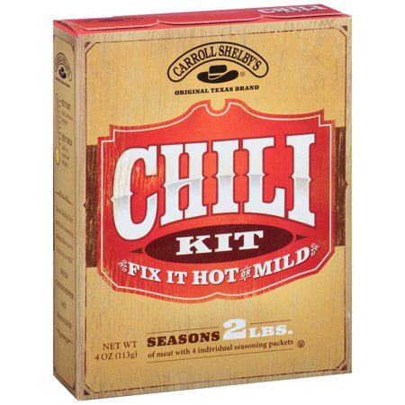 Carroll Shelbys Chili Kit  4 0 Oz