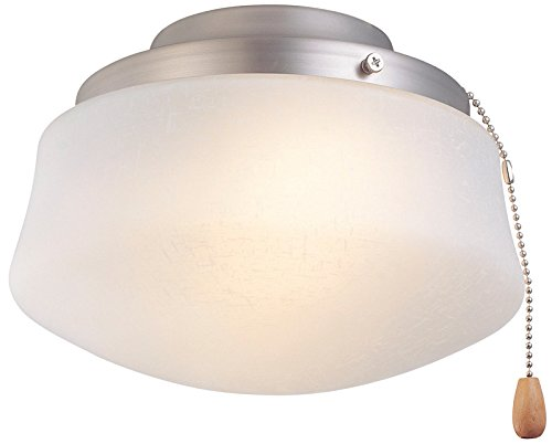 LKLP102SN Low Profile Light Kit with Flared Opal Frosted Glass, Pull Chain Operation, Adds a great addition to any room... by