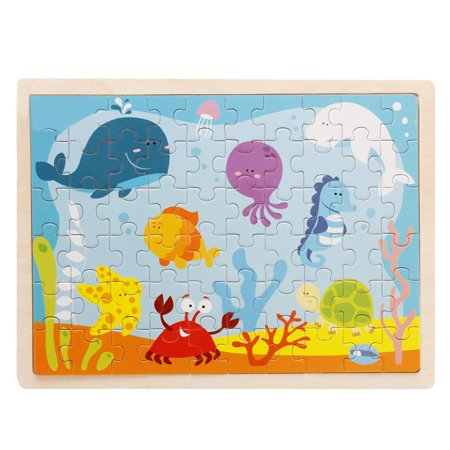 Guidecraft Educational Puzzle - 60-Piece Underwater World Wooden Jigsaw Puzzle Baby Kids Children Educational Toy