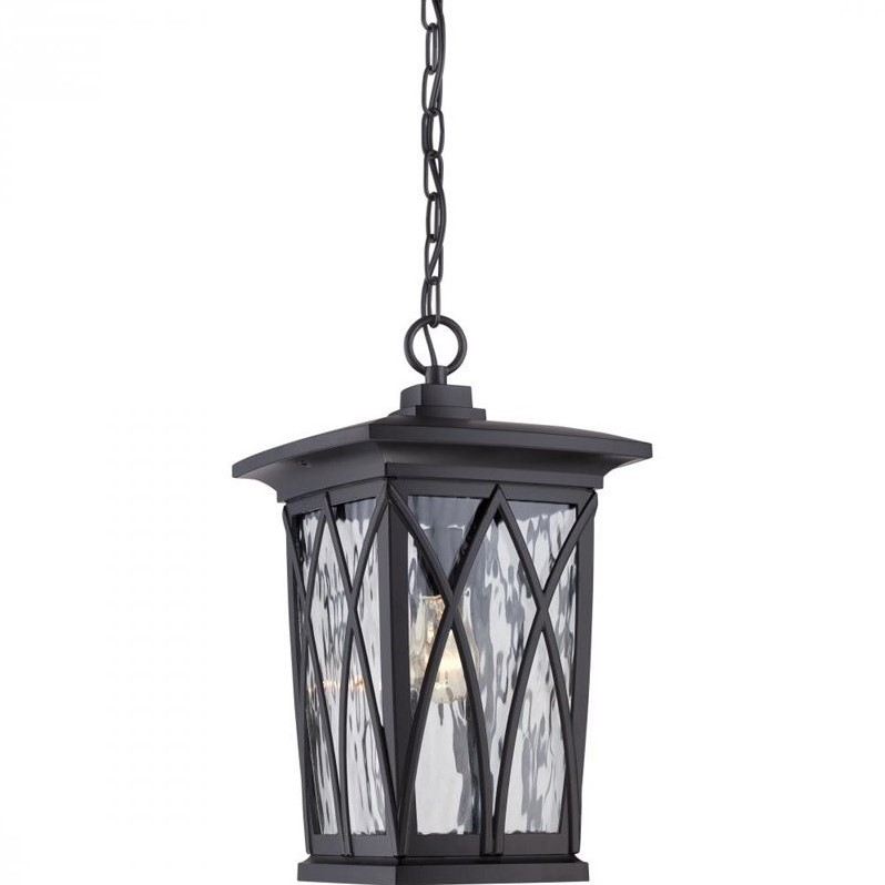 Atlin Designs Large Hanging Lantern in Mystic Black by