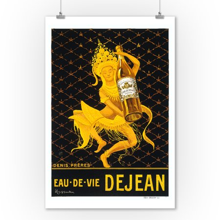 Eau de Vie Dejean - Denis Freres Vintage Poster (artist: Cappiello, Leonetto) France c. 1920 (9x12 Art Print, Wall Decor Travel Poster)](Vintage Halloween Photos 1920)