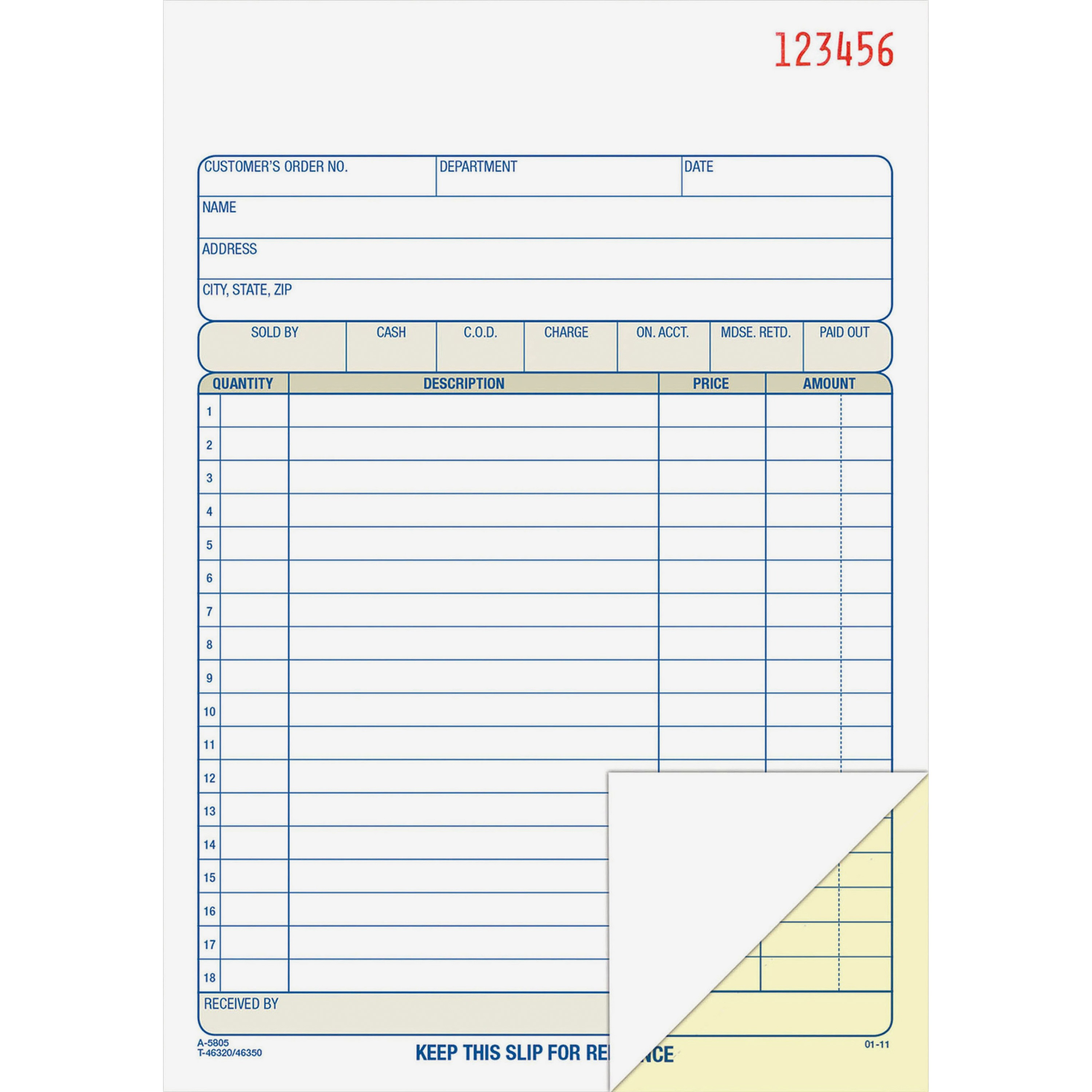 Adams 2-Part Carbonless Sales Order Book
