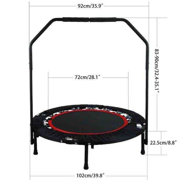 "Elecmall 40"" Mini Rebounder Trampoline Fitness Workout with Adjustable Handrail Elec - Walmart.com - Walmart.com"