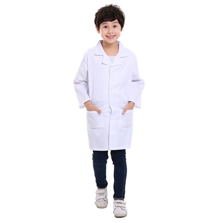 5 Packs Kids White Lab Coats Childrens Scientist Doctor Role Play Costume Bulk-White-6X/7 - Childrens Doctor Costume
