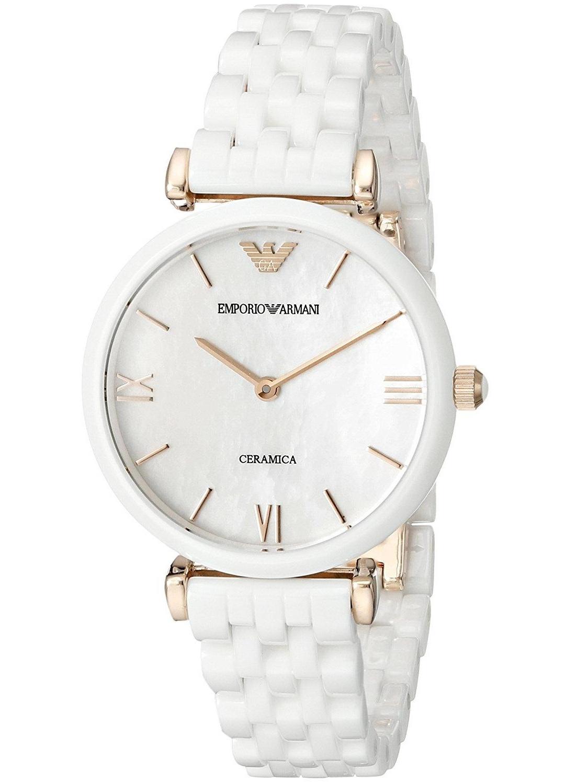 Emporio Armani Women's 32mm White Ceramic Band & Case Quartz Analog Watch AR1486
