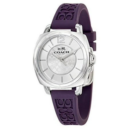 Womens 14502091 Mini Boyfriend Signature Purple Strap Silver Tone Watch