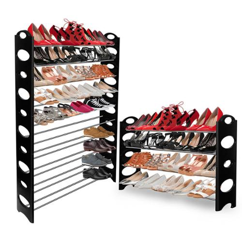 Shoe Rack Tower Storage Organizer for up to 50 Pairs of Shoes