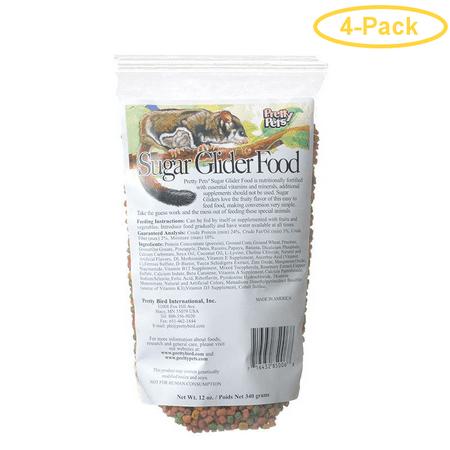 Pretty Pets Sugar Glider Food 12 oz - Pack of 4