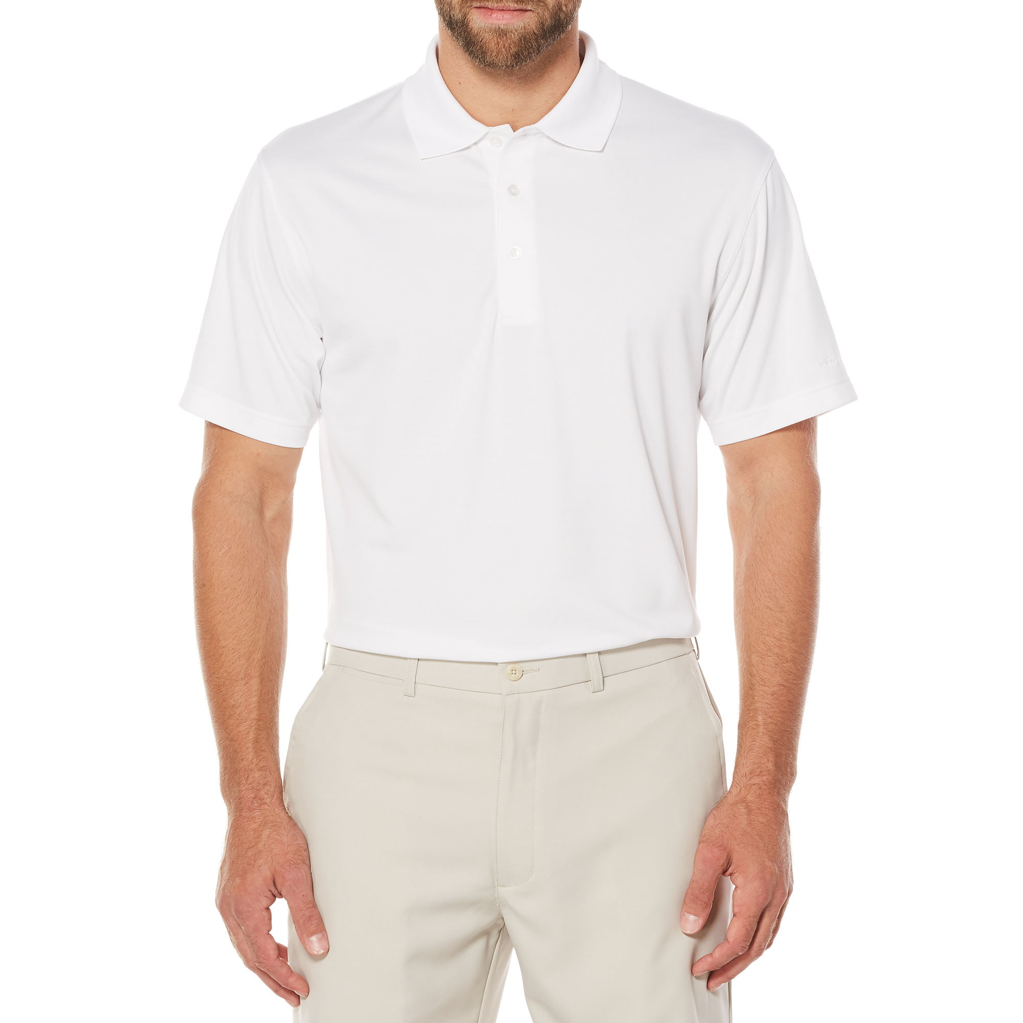 Big Men's Performance Solid Ventilated Short Sleeve Polo by Generic