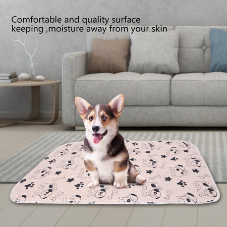 Yosoo 3 Sizes Reusable Waterproof Puppy Dog Cat Pee Bed Pad Carpet Urine Pet Trainging Mat, Reusable Dog Pee Pad,Dog Pee Pad - image 3 de 5