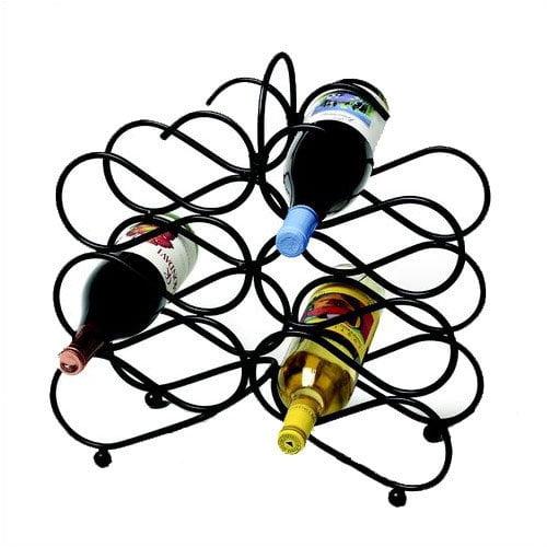 Spectrum Diversified Scroll 12 Bottle Tabletop Wine Rack