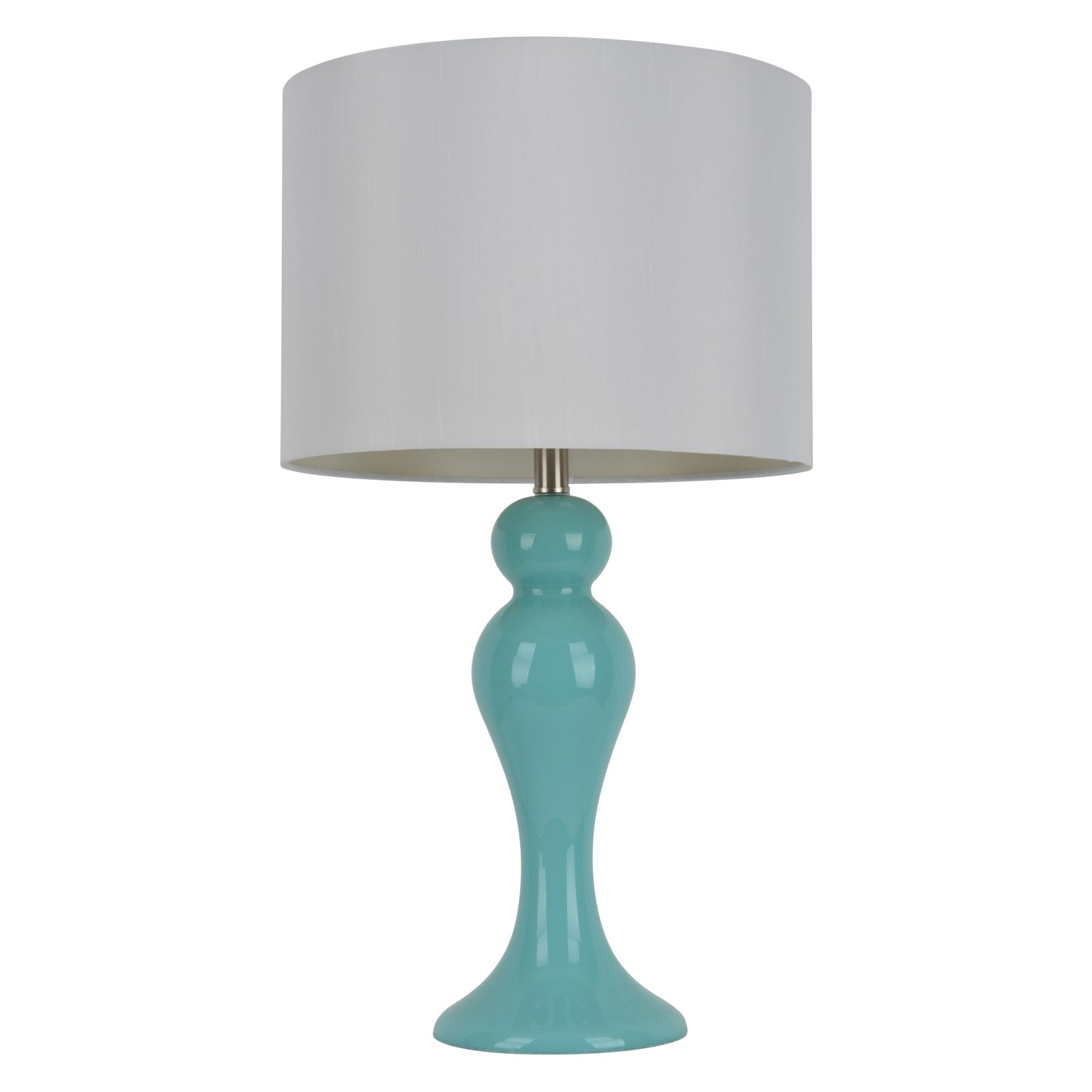 Teal Glass Table Lamp by Jimco Lamp & Manufacturing